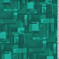 Emerald Abstracts Print Cotton