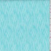 Turquoise Waves Print Cotton