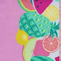 """Pink """"Sew Fruity"""" Double Border Print Cotton"""