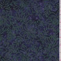 Deep Purple Floral Cotton Batik