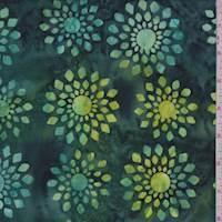 Jade/Teal Sunburst Medallion Cotton Batik