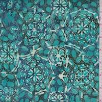 Dark Turquoise Medallion Cotton Batik