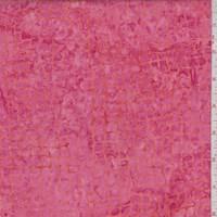 Deep Pink/Tangerine Mosaic Cotton Batik