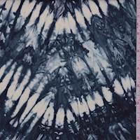 Navy Burst Cotton Batik