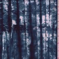 Ink Blue Pinstripe Cotton Batik