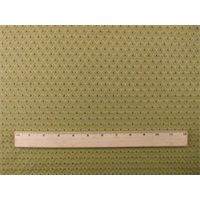 *1 1/8 YD PC--Olive Brown Diamond Dot Home Decorating Fabric