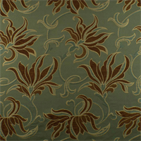 *1 YD PC--Green/Brown Floral Jacquard Home Decorating Fabric