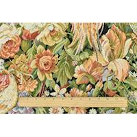 *1 1/2 YD PC--Green/Red/Multi Bird Floral Tapestry Home Decorating Fabric