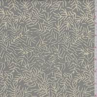 Dark Taupe/Beige Sea Kelp Cotton Batik