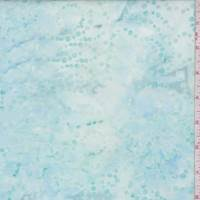 Pale Blue Bubble Swirl Cotton Batik