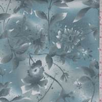 Dusty Teal Botanical Print Cotton