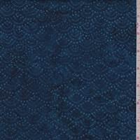 Indigo Blue Waves Cotton Batik