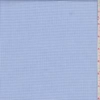 White/Royal Rectangle Check Shirting