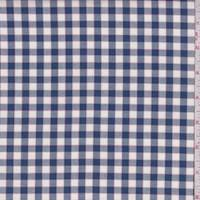 Deep Blue/White Check Cotton Oxford