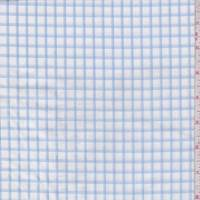 White/Sky Check Cotton Shirting