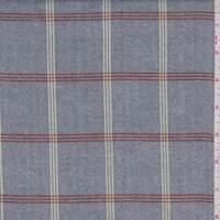 Vintage Blue/Rust Check Flannel