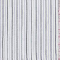 White/Slate/Periwinkle Stripe Cotton Lawn