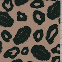 Cocoa/Black Ikat Cheetah Rayon Challis