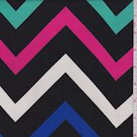 Black Multi Chevron Rayon Challis