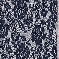 Navy Blue Floral Lace