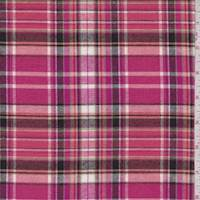 *9 3/8 YD PC--Berry/Coral Plaid Flannel
