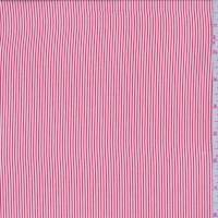 *1 YD PC--Red/White Pinstripe Crepe de Chine