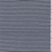 *3 YD PC--Navy/White Stripe Jersey Knit