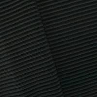 *2 YD PC--Midnight Gray/Black Stripe Rib Knit