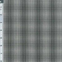 *3 1/8 YD PC--Black Yarn Dyed Plaid Shirting
