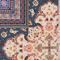 *2 1/2 YD PC--Orange Spice Multi Baroque ITY Jersey Knit