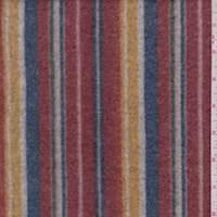 Brick/Gold/Green Multi Stripe Faux Cashmere Knit