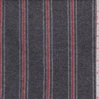 Charcoal/Red Stripe Faux Cashmere Knit
