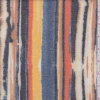 Orange/Yellow/Blue Brushstroke Stripe Faux Cashmere Knit
