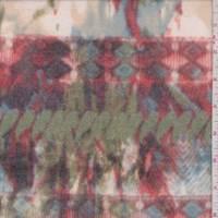 Brick/Teal Paisley Faux Cashmere Knit