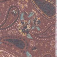 Cinnamon Tossed Paisley Faux Cashmere Knit
