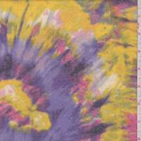 Purple/Yellow/Pink Tie Dye Look Faux Cashmere Knit