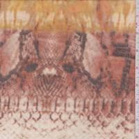 Mustard/Terra Cotta Snakeskin Faux Cashmere Knit