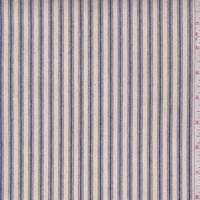 Natural/Blue Stripe Cotton Ticking