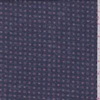 Dark Blue Geo Check Flannel