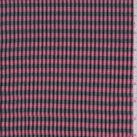 Black/Berry/Silver Plaid Cotton Voile