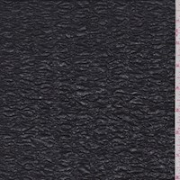 Metallic Black 2-Ply Puckered Knit
