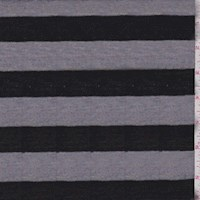Heather-Denim/Black Stripe Jersey Knit