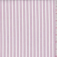 White/Berry Stripe Cotton Shirting