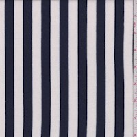 White/Navy Stripe Sweatshirt Fleece