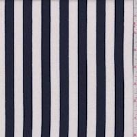 White/Navy Stripe Sweatshirt Fleece