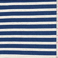 Cobalt/White Stripe Jersey Knit