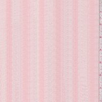 Apricot Corded Stripe Cotton Lawn