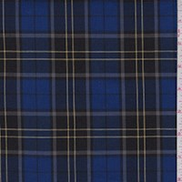 Royal/Slate Tartan Plaid Suiting