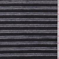 Black/Charcoal Stripe Sweatshirt Fleece