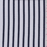 White/Midnight Stripe Sweatshirt Fleece